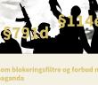 Lovforslag om blokeringsfiltre og forbud mod terrorpropaganda - hjemmeside