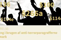 Stigning i brugen af anti-terrorparagrafferne - Til Hjemmeside