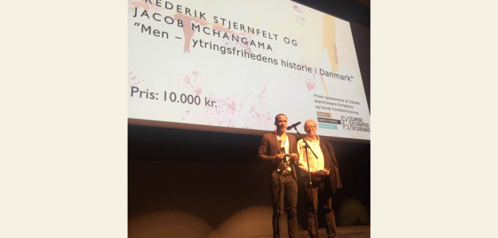 Prisuddeling: Jacob Mchangama og Frederik Stjernfelt modtager Blixenprisen