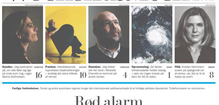 "Weekendavisen:""Rød Alarm"""