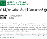 American Journal of Political Science: Do Social Rights Affect Social Outcomes?