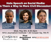 "Talk on: ""Hate Speech on Social Media: Is There a Way to More Civil Discussion?"""