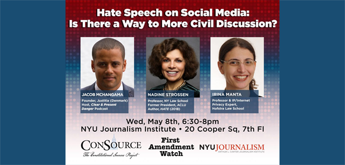 """Talk on: """"Hate Speech on Social Media: Is There a Way to More Civil Discussion?"""""""