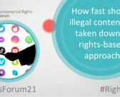 Fundamental Rights Forum 2021: How fast should illegal content be taken down? A rights-based approach